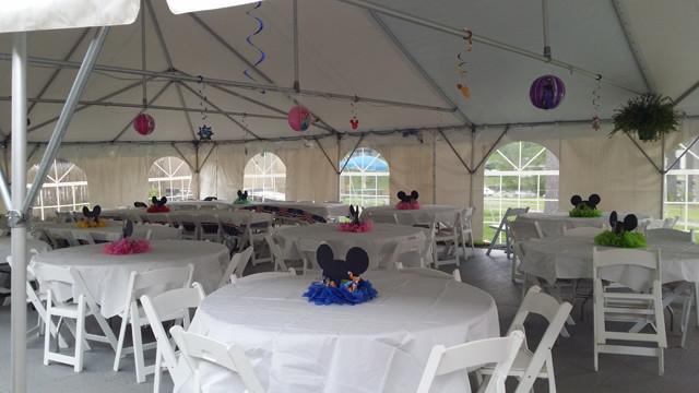 Wedding Tent Setup & Rushford Lake Cottage Rental Pricing